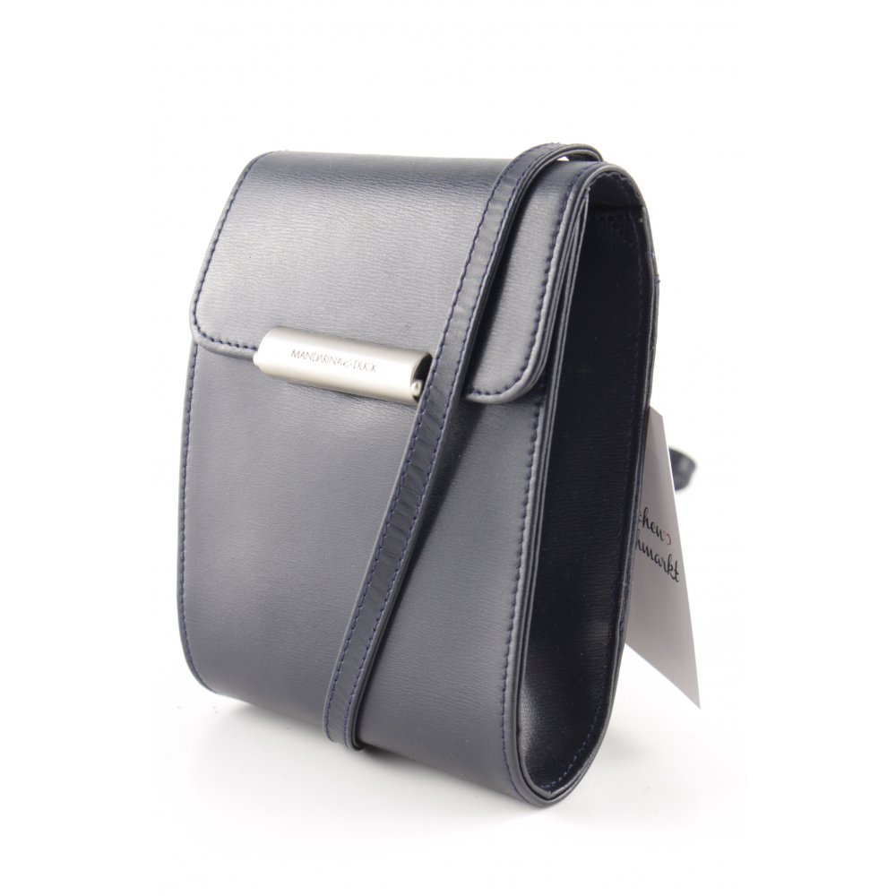 mandarina duck handtasche dunkelblau casual look damen tasche bag leder handbag ebay. Black Bedroom Furniture Sets. Home Design Ideas