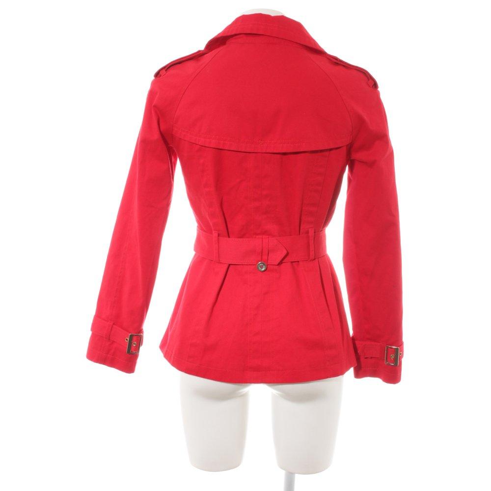 mejor selección 5ec36 693b2 Detalles de MANGO CASUAL Gabardina rojo look casual Mujeres Talla EU 34  Abrigo Algodón