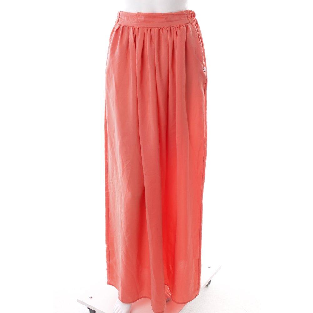 mango maxi skirt salmon logo application women s size uk 8