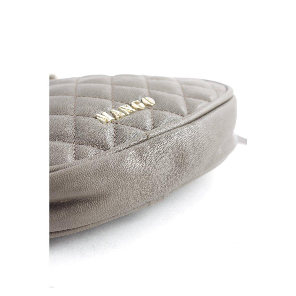 mango minitasche graubraun steppmuster klassischer stil. Black Bedroom Furniture Sets. Home Design Ideas
