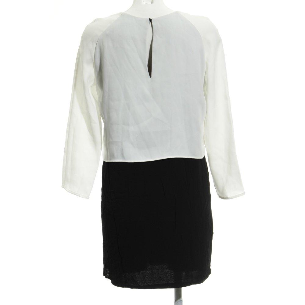 rendimiento confiable marcas reconocidas 2020 Detalles de MANGO SUIT Vestido de manga larga negro-blanco elegante Mujeres  Talla EU 36