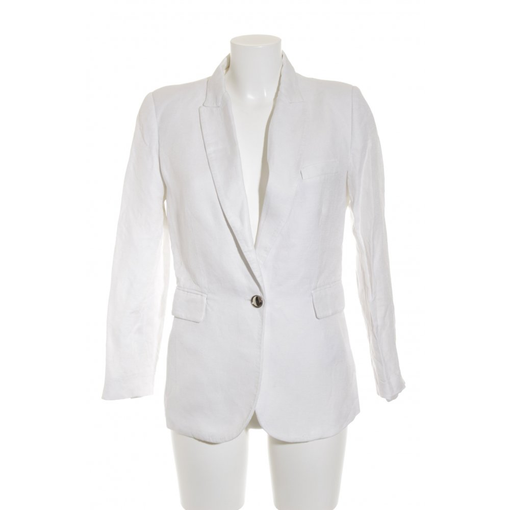 mango suit smoking blazer wei business look damen gr de. Black Bedroom Furniture Sets. Home Design Ideas