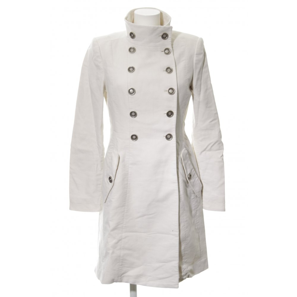 Détails sur MANGO SUIT Manteau en laine blanc cassé style d'affaires Dames T 40 blanc cassé