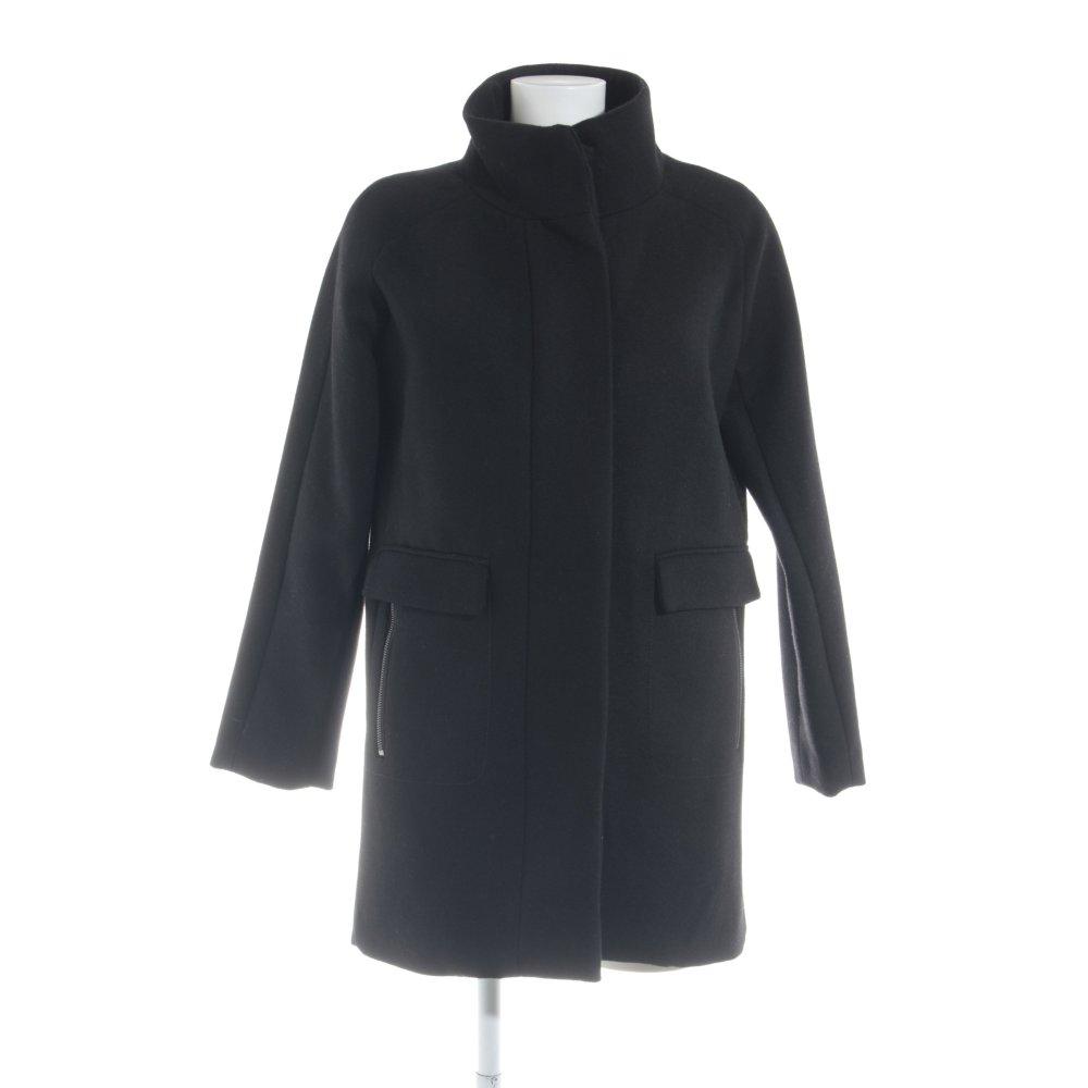 Détails sur MANGO SUIT Manteau en laine noir style d'affaires Dames T 38