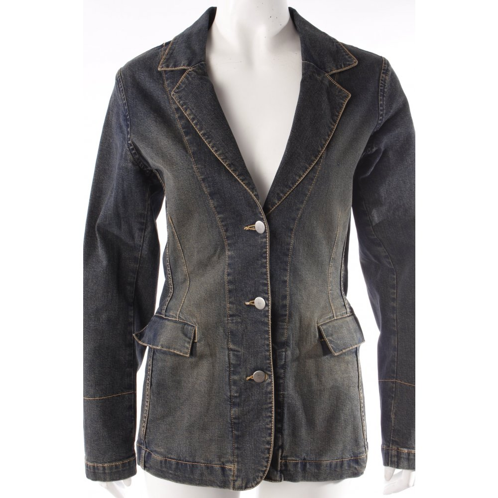 marc aurel jeansblazer blau damen gr de 36 dunkelblau jacke jacket jeansjacke ebay. Black Bedroom Furniture Sets. Home Design Ideas
