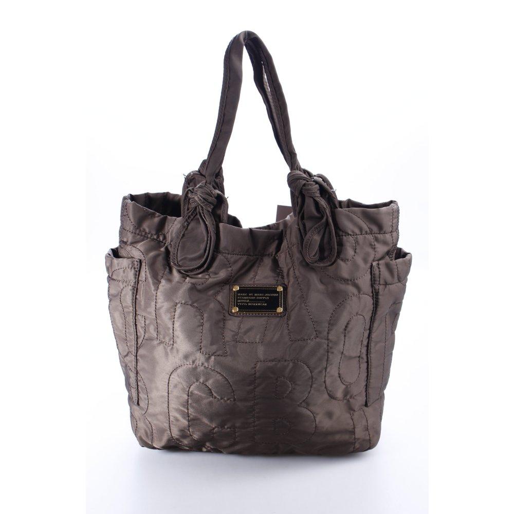 marc by marc jacobs handtasche graubraun casual look damen tasche bag handbag ebay. Black Bedroom Furniture Sets. Home Design Ideas