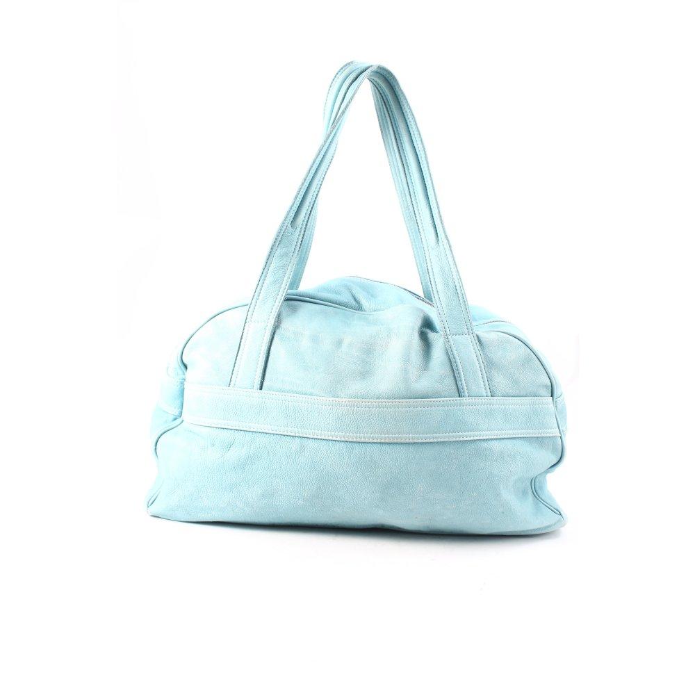 marc cain henkeltasche hellblau used optik damen tasche bag carry bag ebay. Black Bedroom Furniture Sets. Home Design Ideas