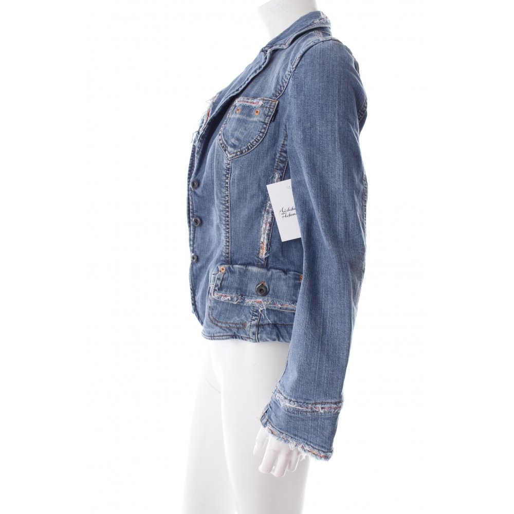 marc cain spijkerjas lichtblauw lichtgrijs straat mode uitstraling dames jack ebay. Black Bedroom Furniture Sets. Home Design Ideas