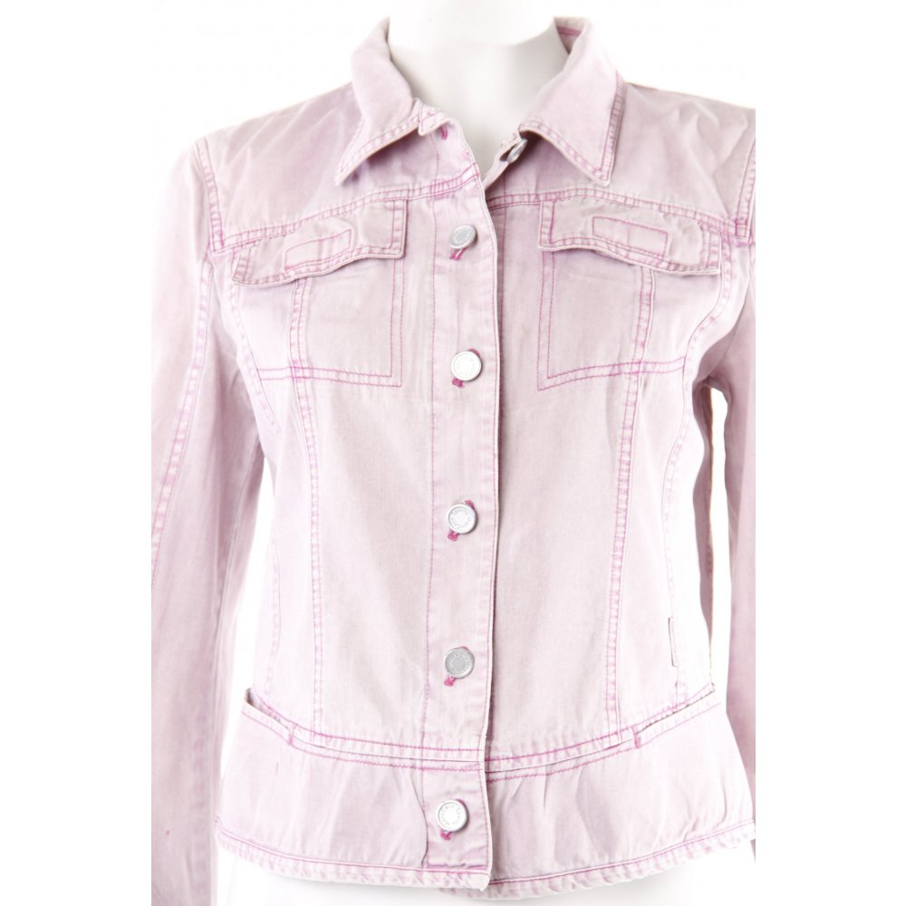 marc cain jeansjacke rosa damen gr de 36 jacke jacket denim jacket ebay. Black Bedroom Furniture Sets. Home Design Ideas