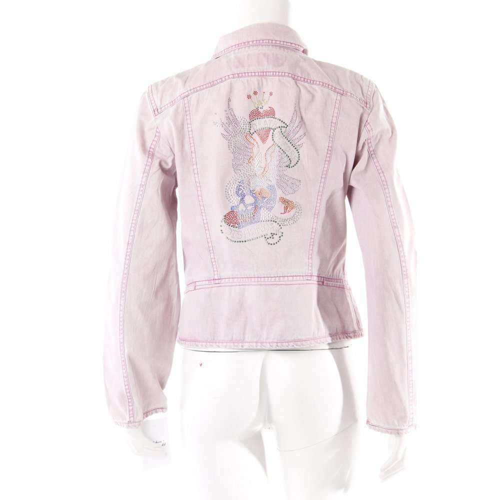 marc cain jeansjacke rosa damen gr de 36 jacke jacket. Black Bedroom Furniture Sets. Home Design Ideas