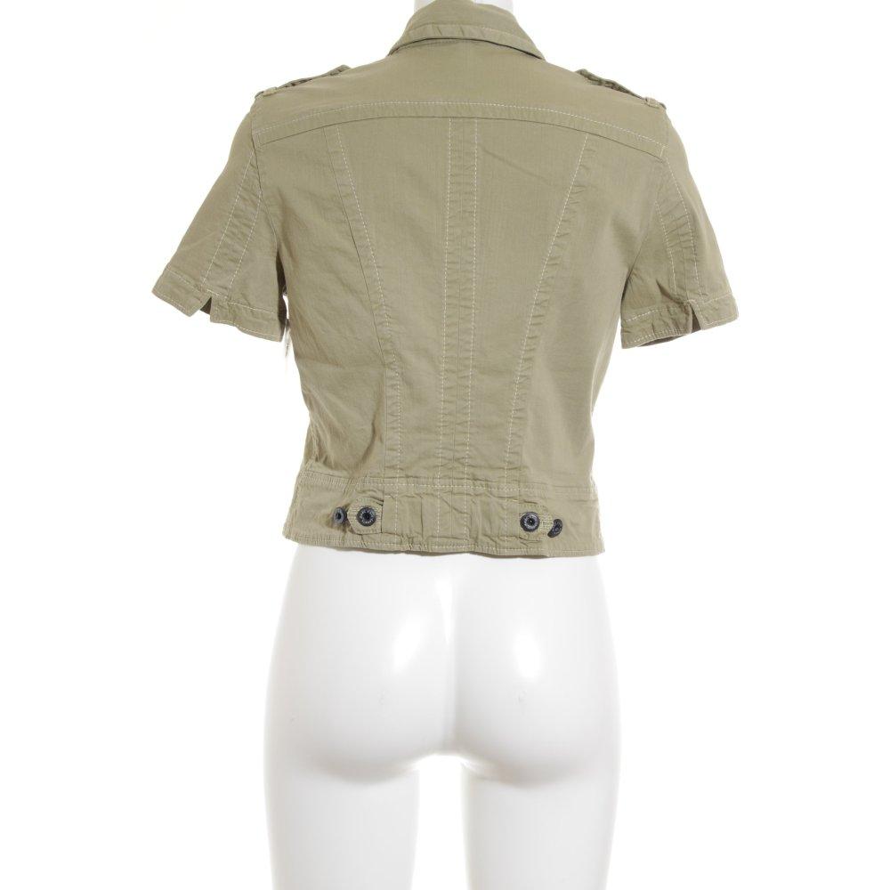 marc cain sports kurzjacke olivgr n military look damen gr de 38 jacke jacket ebay. Black Bedroom Furniture Sets. Home Design Ideas