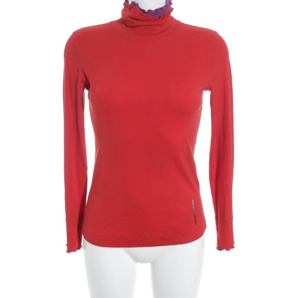 marc cain sports rollkragenpullover rot casual look damen gr de 36 pullover ebay. Black Bedroom Furniture Sets. Home Design Ideas