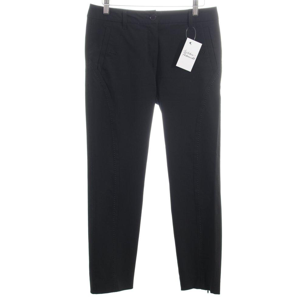 marc cain jersey pants black business style women s size uk 10 trousers ebay. Black Bedroom Furniture Sets. Home Design Ideas
