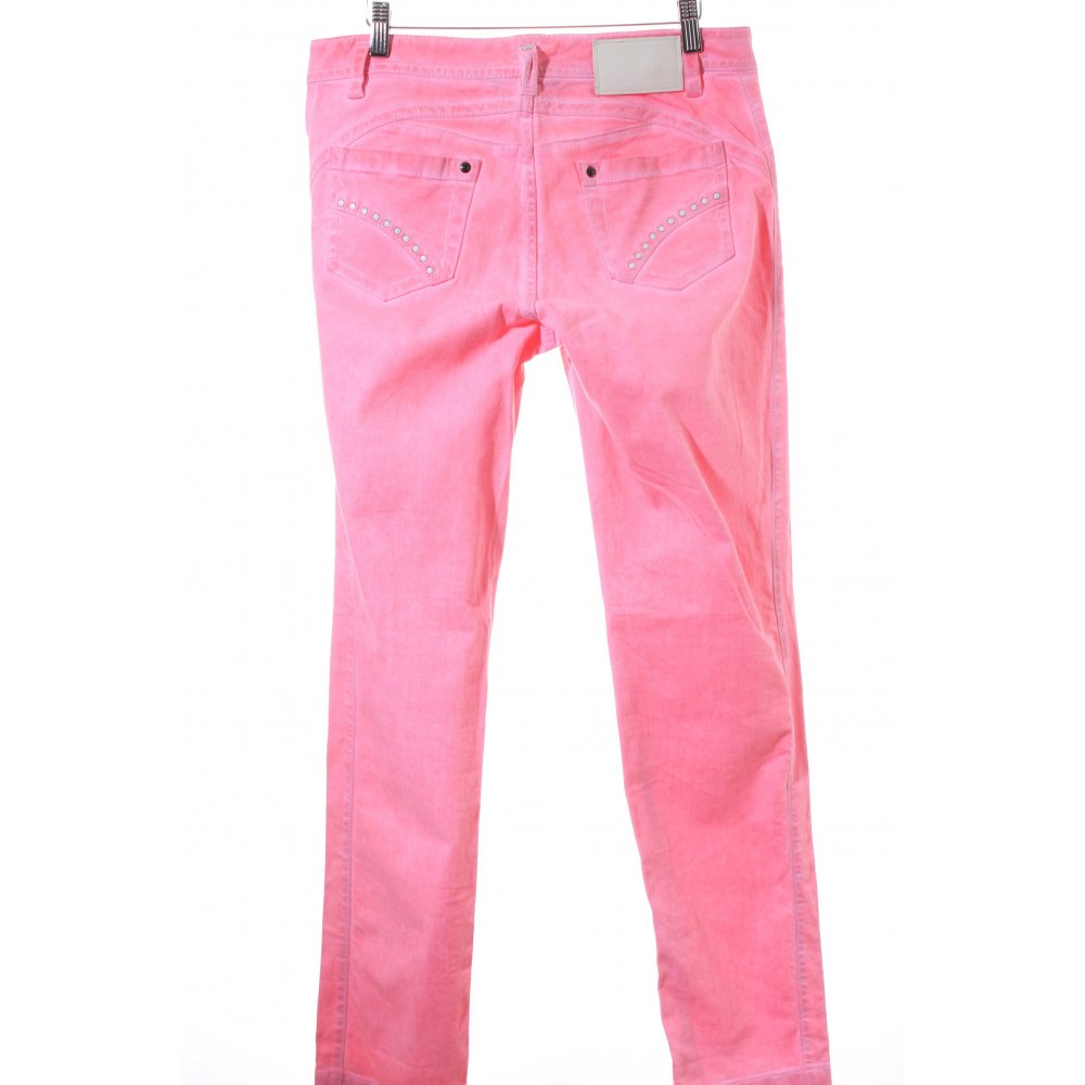 marc cain straight leg jeans pink batik pattern. Black Bedroom Furniture Sets. Home Design Ideas