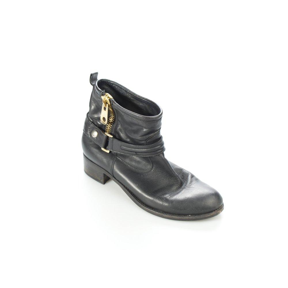 marc jacobs boots schwarz biker look damen gr de 40 schuhe shoes damenschuhe ebay. Black Bedroom Furniture Sets. Home Design Ideas