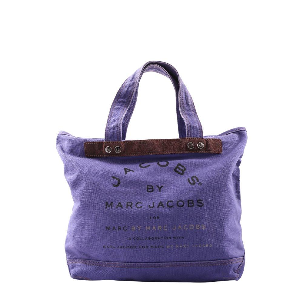 Détails sur MARC JACOBS Sac en toile violet lettrage imprimé style décontracté Dames
