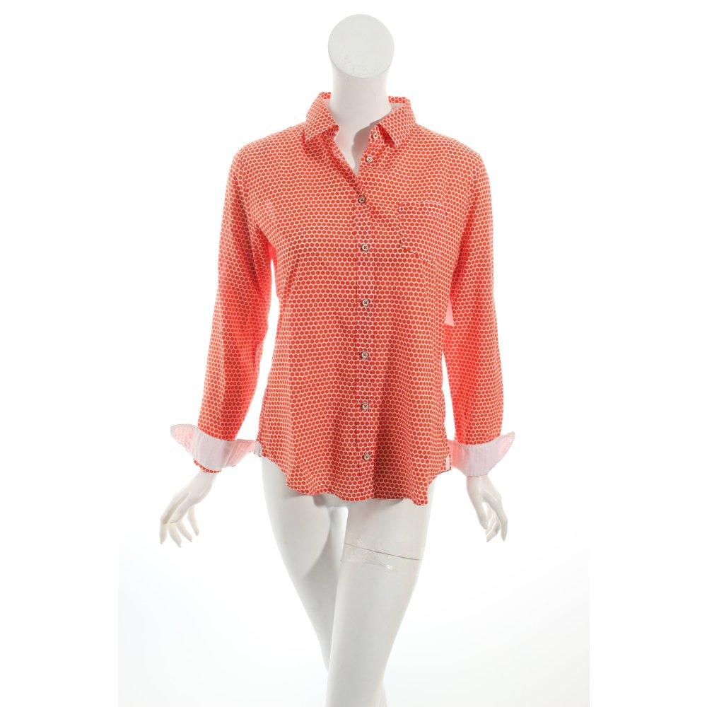 Marc o polo bluse wei orange punktemuster hippie look damen gr de 36 wei - Hippie bluse damen ...