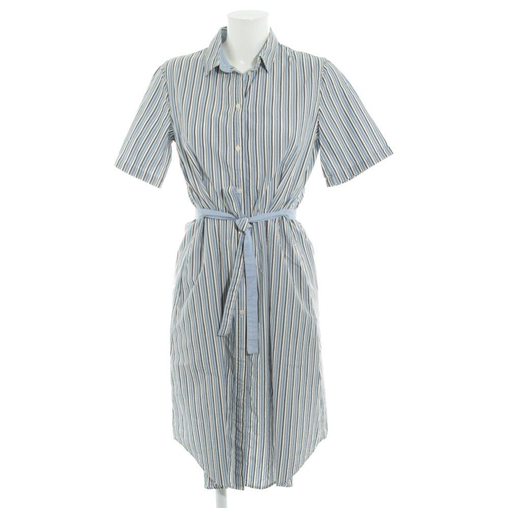 Blusenkleid Damen Taillengürtel Streifen-Muster elegant blau NEU NA-KD 44 €