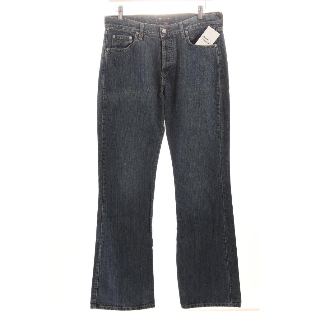 marc o polo boot cut jeans blau damen gr de 42 baumwolle. Black Bedroom Furniture Sets. Home Design Ideas