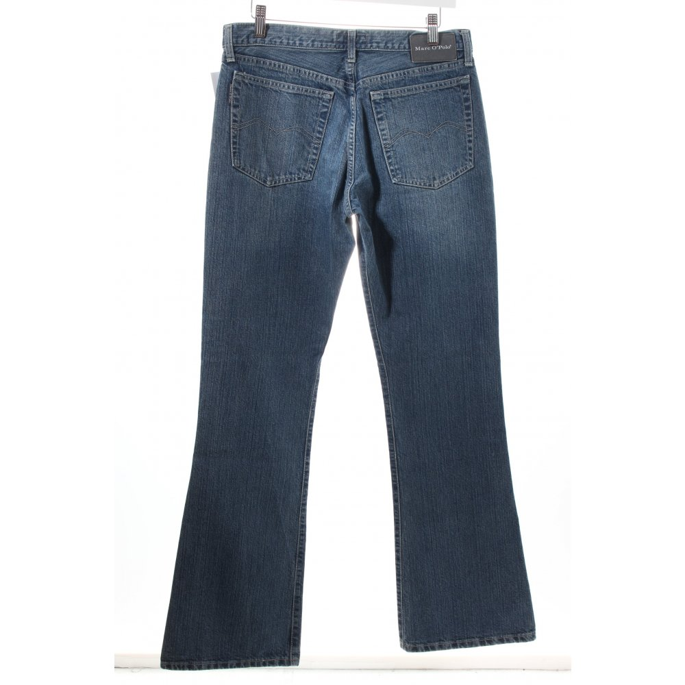 marc o polo boot cut jeans stahlblau wollwei casual look. Black Bedroom Furniture Sets. Home Design Ideas