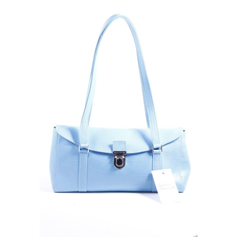 marc o polo handtasche hellblau tortoisemuster leder optik damen tasche bag ebay. Black Bedroom Furniture Sets. Home Design Ideas