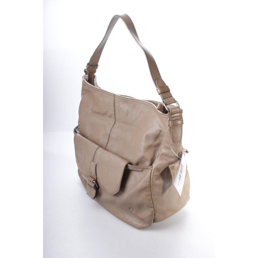 marc o polo handtasche hellbraun paspeln hte damen tasche bag leder handbag ebay. Black Bedroom Furniture Sets. Home Design Ideas
