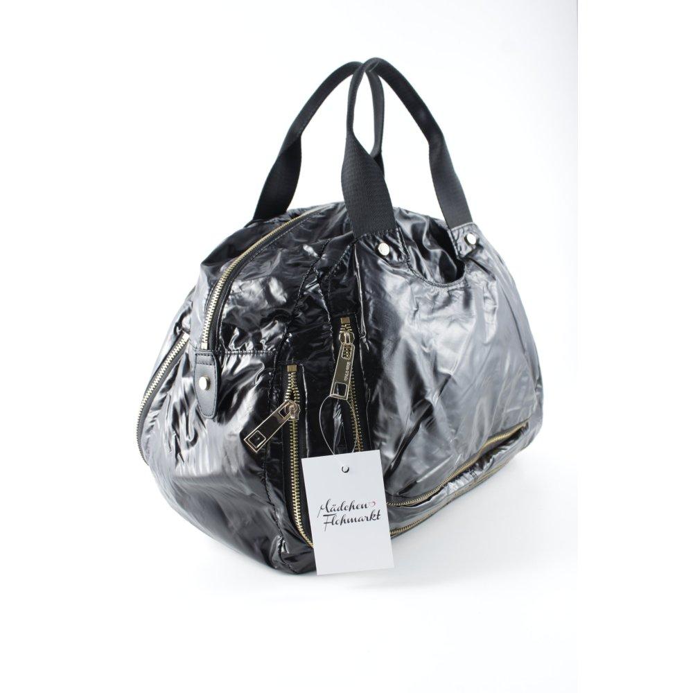 marc o polo henkeltasche schwarz glanz optik damen tasche. Black Bedroom Furniture Sets. Home Design Ideas