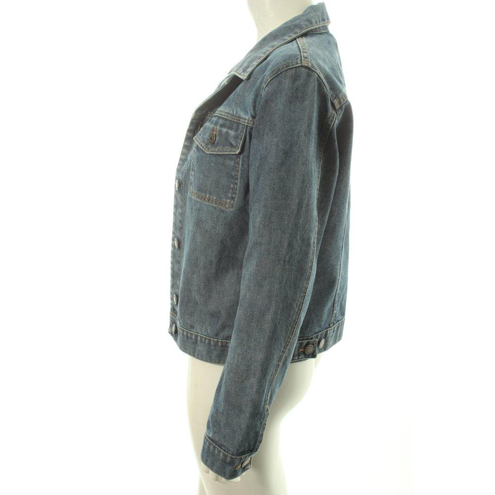 marc o polo jeansjacke stahlblau wollwei boyfriend look damen gr. Black Bedroom Furniture Sets. Home Design Ideas