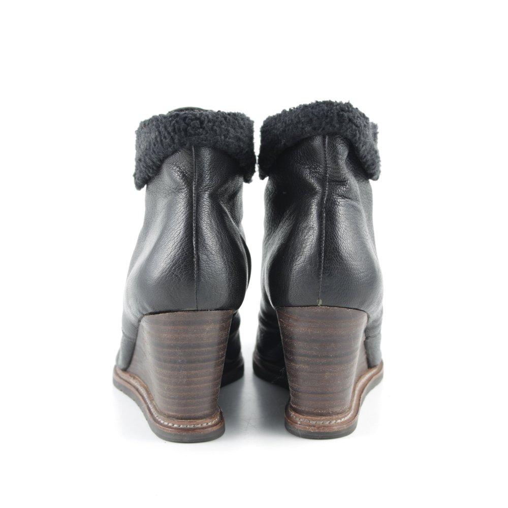 marc o polo keil stiefeletten schwarz casual look damen gr de 37 booties ebay. Black Bedroom Furniture Sets. Home Design Ideas