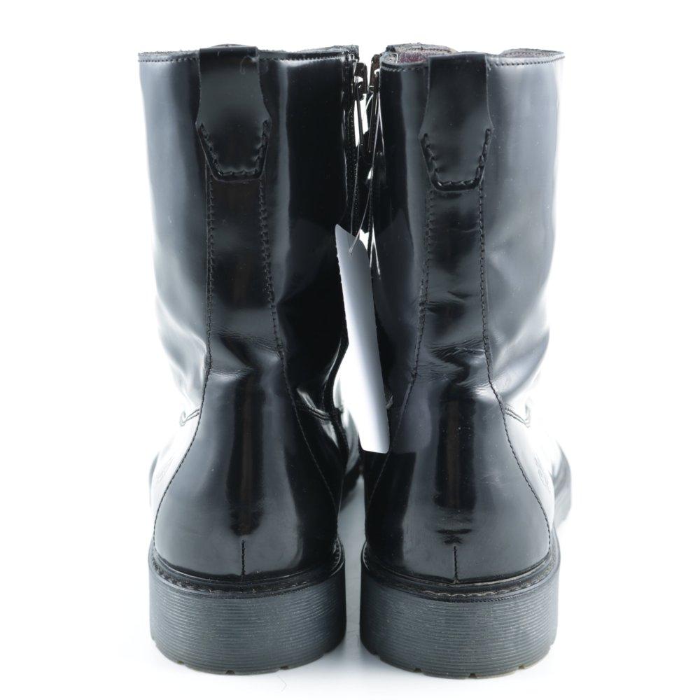 marc o polo schn r stiefeletten schwarz glanz optik damen gr de 40 booties ebay. Black Bedroom Furniture Sets. Home Design Ideas