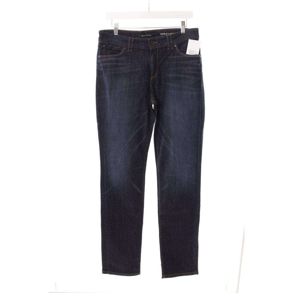 details zu marc o polo stretch jeans dunkelblau washed optik damen. Black Bedroom Furniture Sets. Home Design Ideas