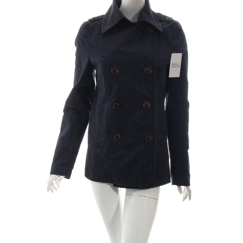 marc o polo trenchcoat dunkelblau klassischer stil damen gr de 40 mantel coat. Black Bedroom Furniture Sets. Home Design Ideas