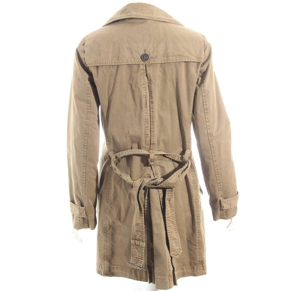 marc o polo trenchcoat hellbraun klassischer stil damen gr de 36 mantel coat ebay. Black Bedroom Furniture Sets. Home Design Ideas