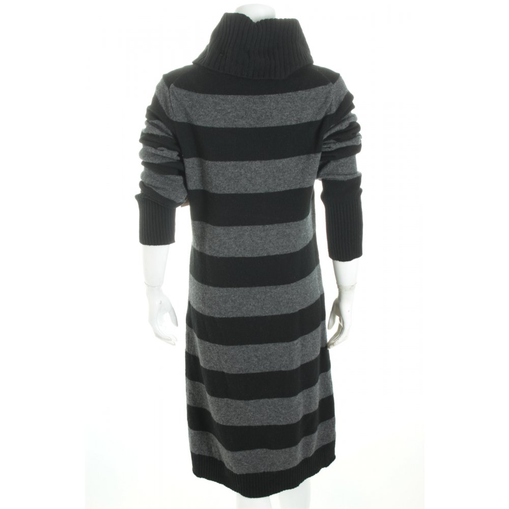 marc o polo wollkleid schwarz grau streifenmuster casual look damen. Black Bedroom Furniture Sets. Home Design Ideas