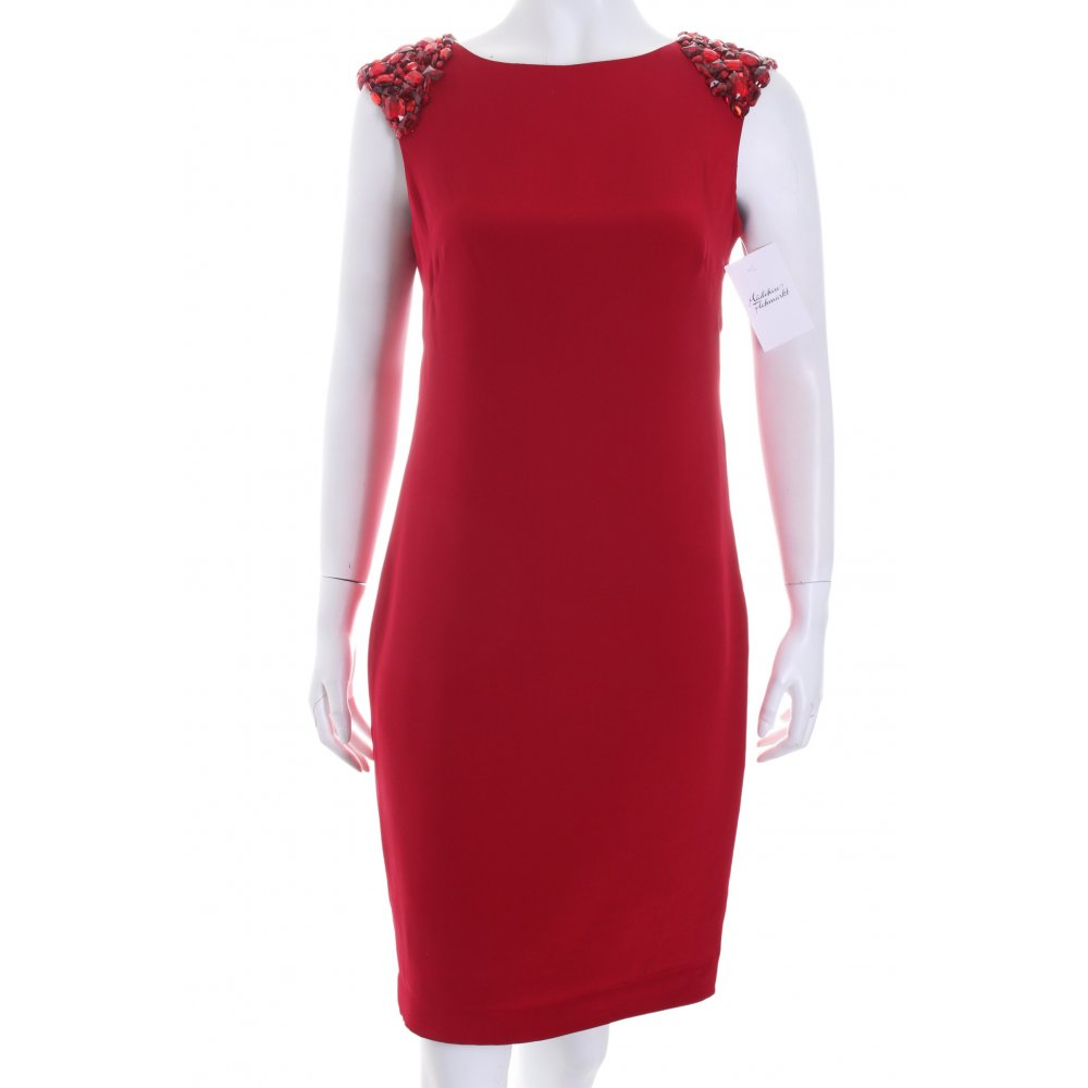MARCHESA Cocktailkleid rot Elegant Damen Gr. DE 38 Kleid Dress Seide ...