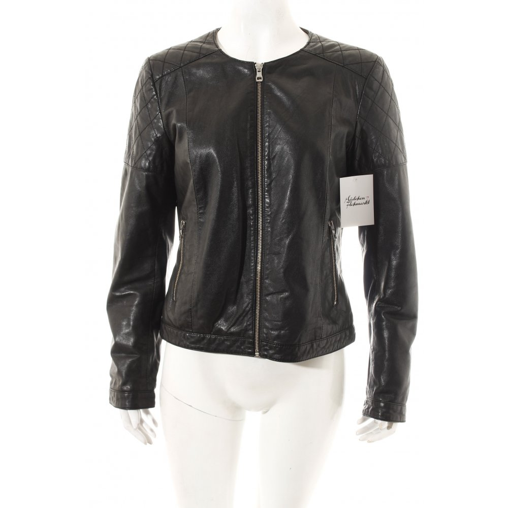 Massimo dutti leather jacket women
