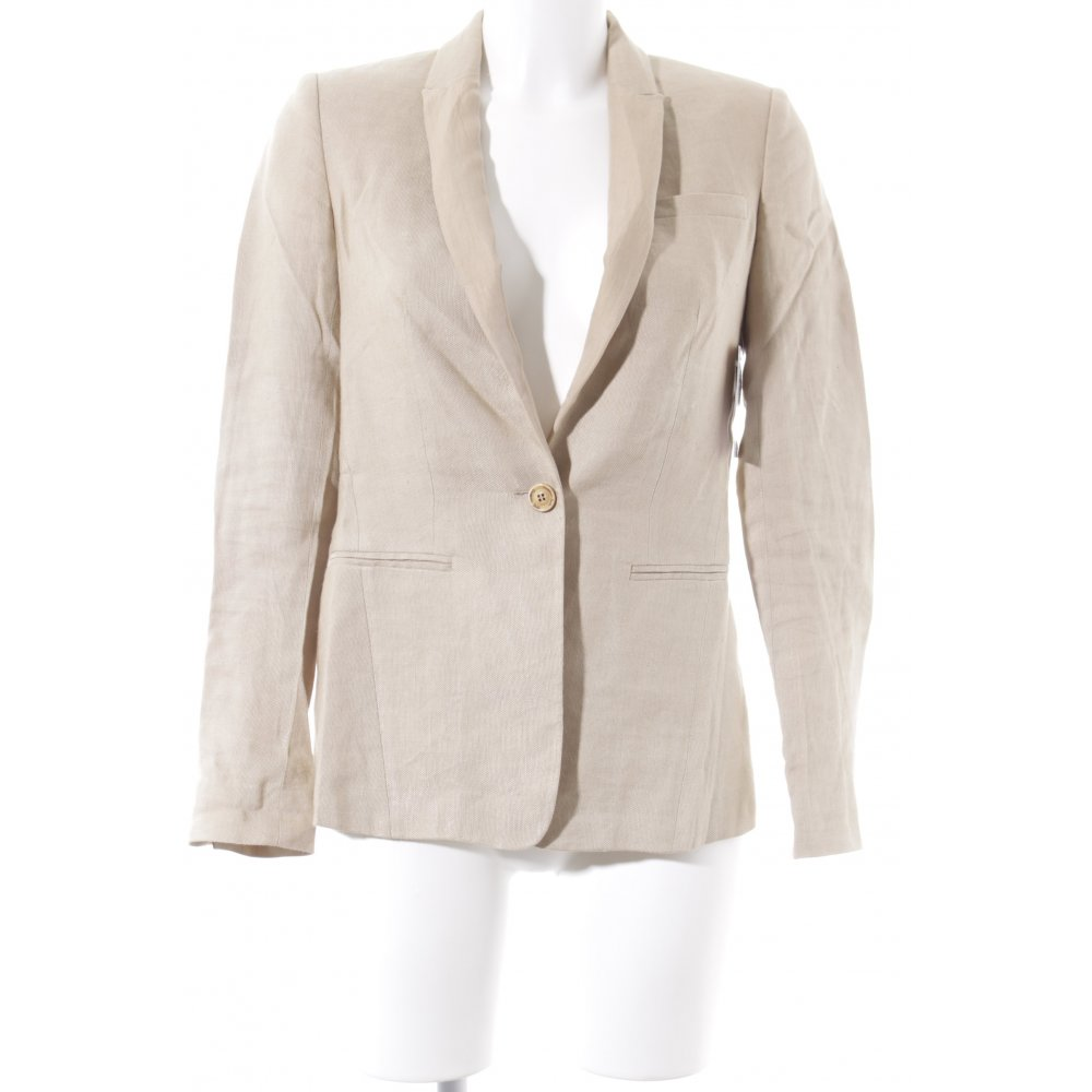 massimo dutti long blazer beige business look damen gr de 36 long blazer ebay. Black Bedroom Furniture Sets. Home Design Ideas