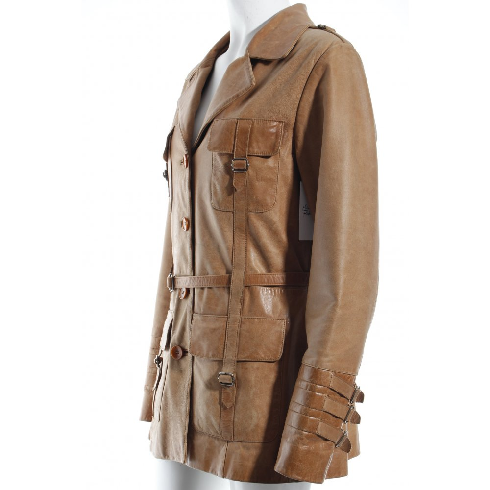 mauritius lederjacke beige safari look damen gr de 38 jacke jacket leder. Black Bedroom Furniture Sets. Home Design Ideas