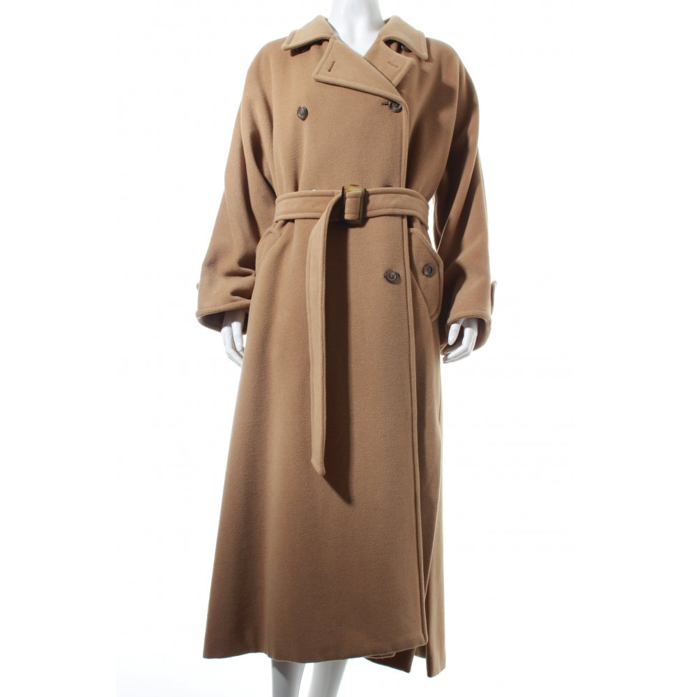 max co bodenlanger mantel beige casual look damen gr de 36 coat ebay. Black Bedroom Furniture Sets. Home Design Ideas