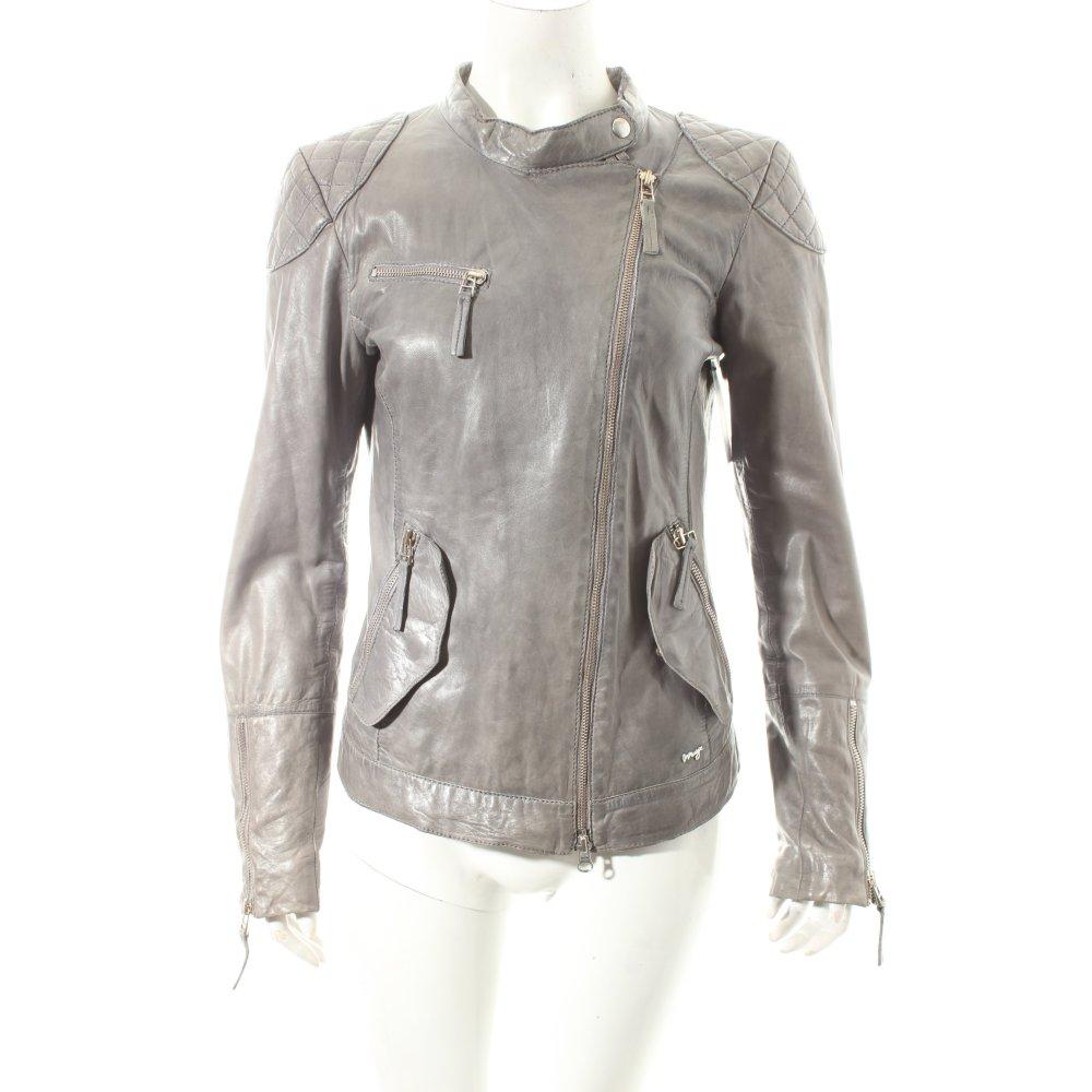maze lederjacke grau casual look damen gr de 38 jacke jacket leder ebay. Black Bedroom Furniture Sets. Home Design Ideas