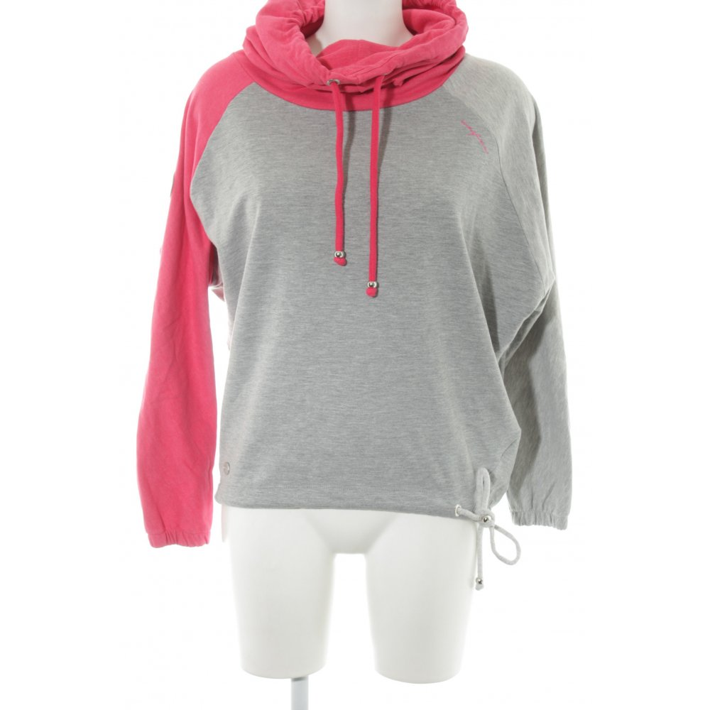 Details zu MAZINE Sweatshirt magenta grau Casual Look Damen Gr. DE 38 Sweat Sweat Shirt