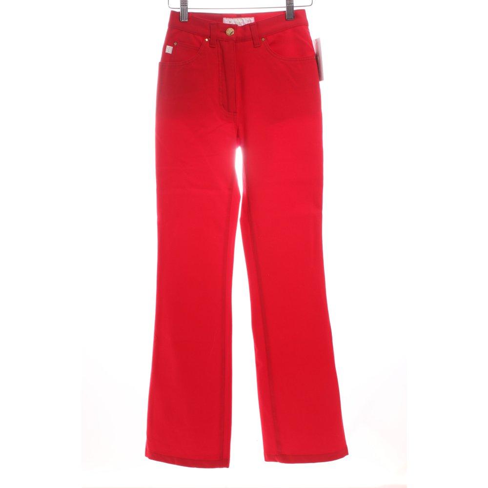 mcm boot cut jeans rot casual look damen gr de 34 ebay. Black Bedroom Furniture Sets. Home Design Ideas