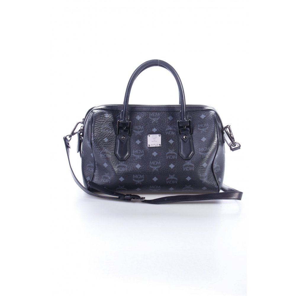 mcm henkeltasche heritage boston medium black damen schwarz tasche bag. Black Bedroom Furniture Sets. Home Design Ideas