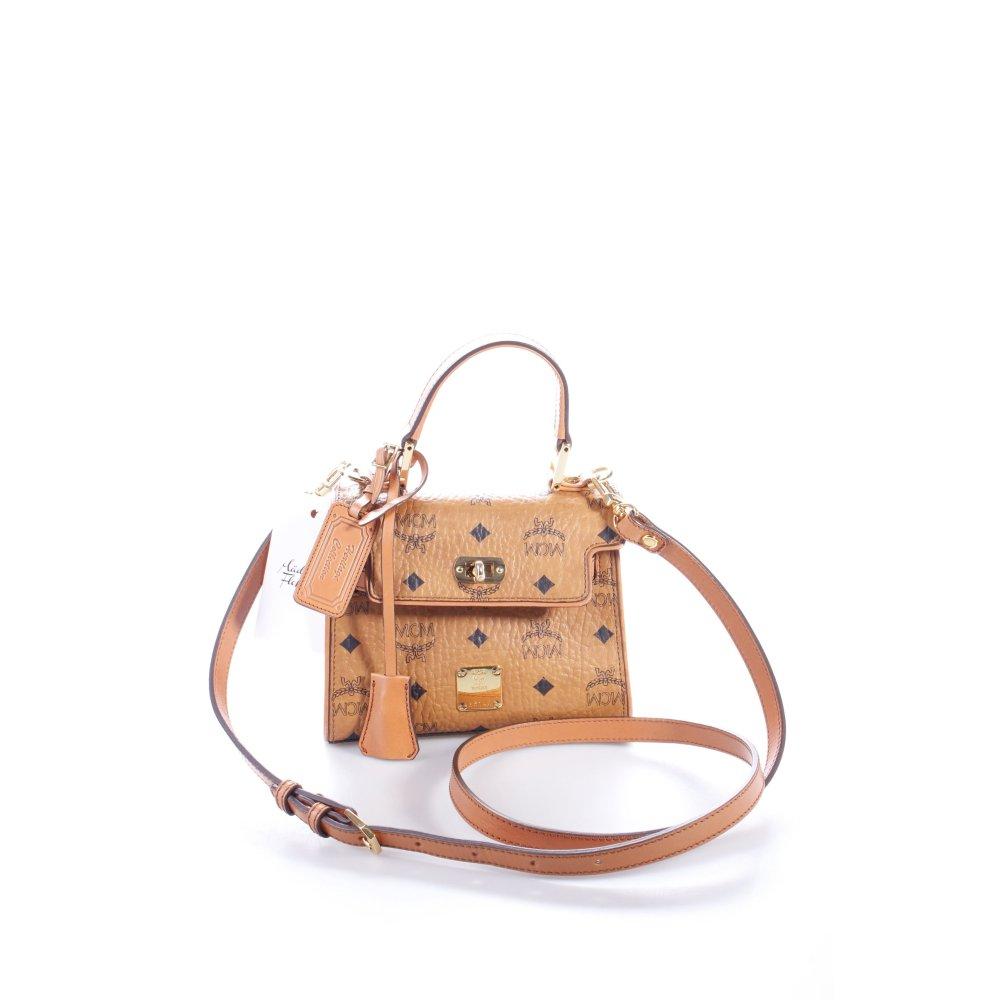 mcm minitasche heritage satchel mini cognac damen braun tasche bag ebay. Black Bedroom Furniture Sets. Home Design Ideas