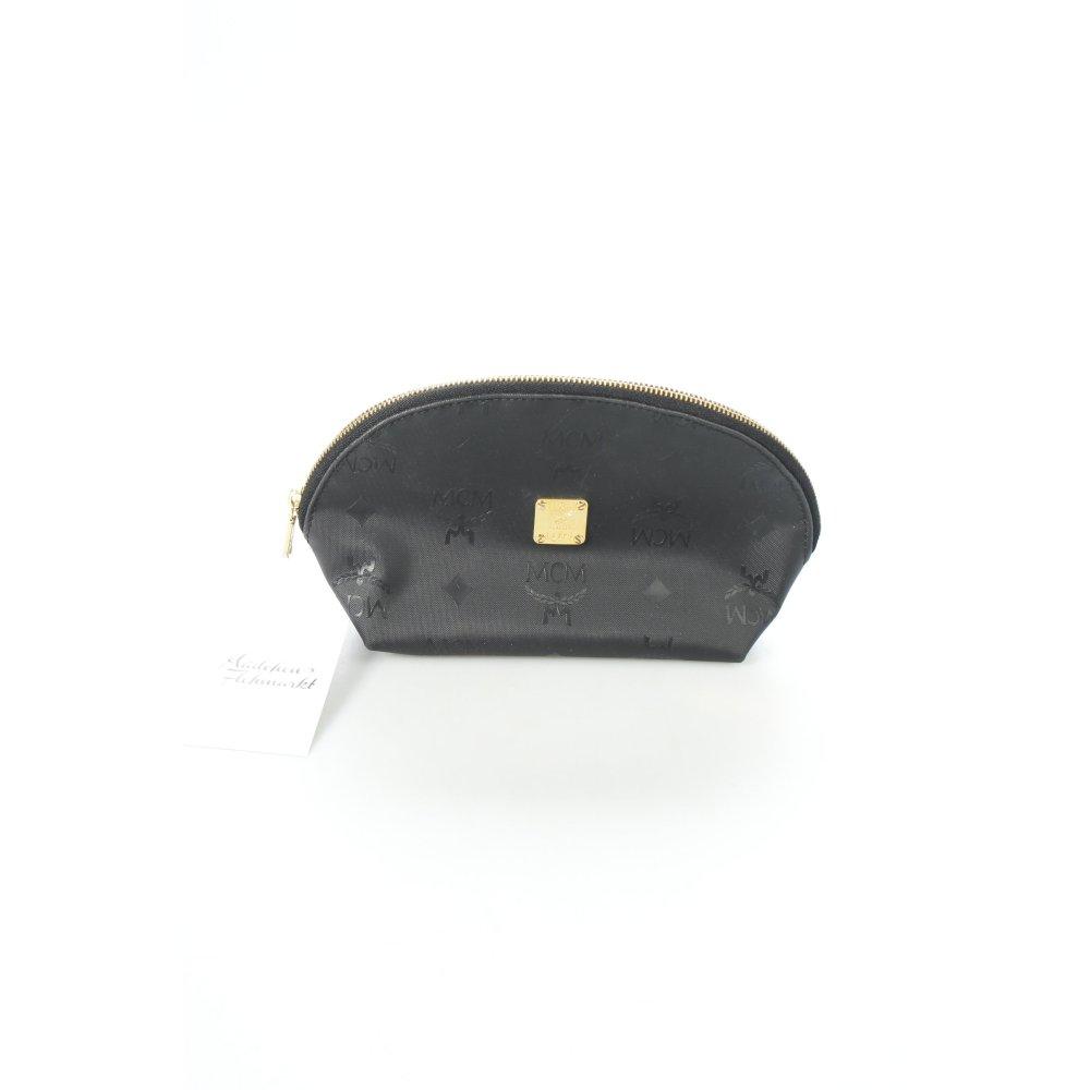 mcm tasche schwarz monogram muster damen bag ebay. Black Bedroom Furniture Sets. Home Design Ideas