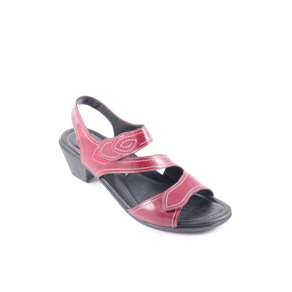 mephisto riemchen sandalen elodie brombeerrot damen gr de 38 sandals ebay. Black Bedroom Furniture Sets. Home Design Ideas