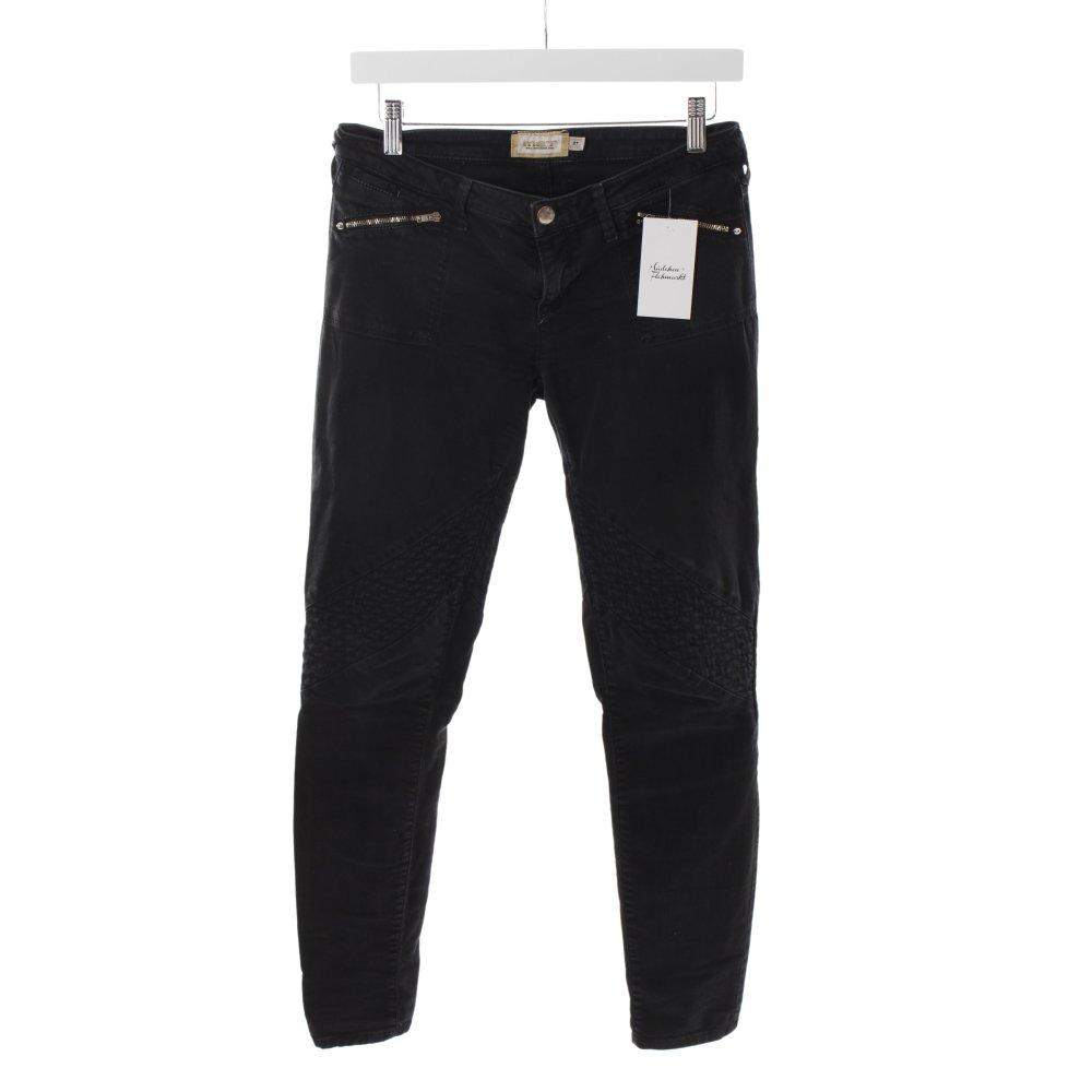met bikerjeans schwarz biker look damen gr de 36 jeans. Black Bedroom Furniture Sets. Home Design Ideas