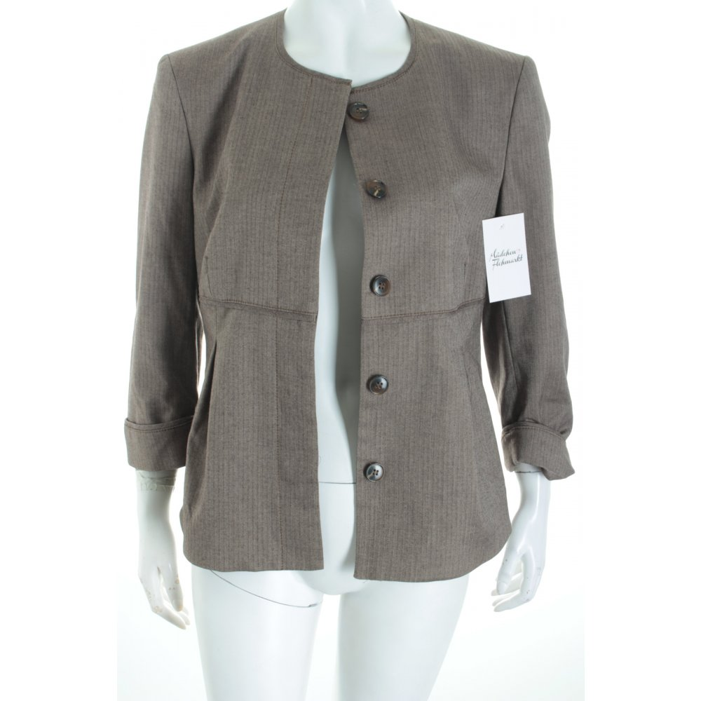mexx blazer hellbraun streifenmuster casual look damen gr de 40 ebay. Black Bedroom Furniture Sets. Home Design Ideas