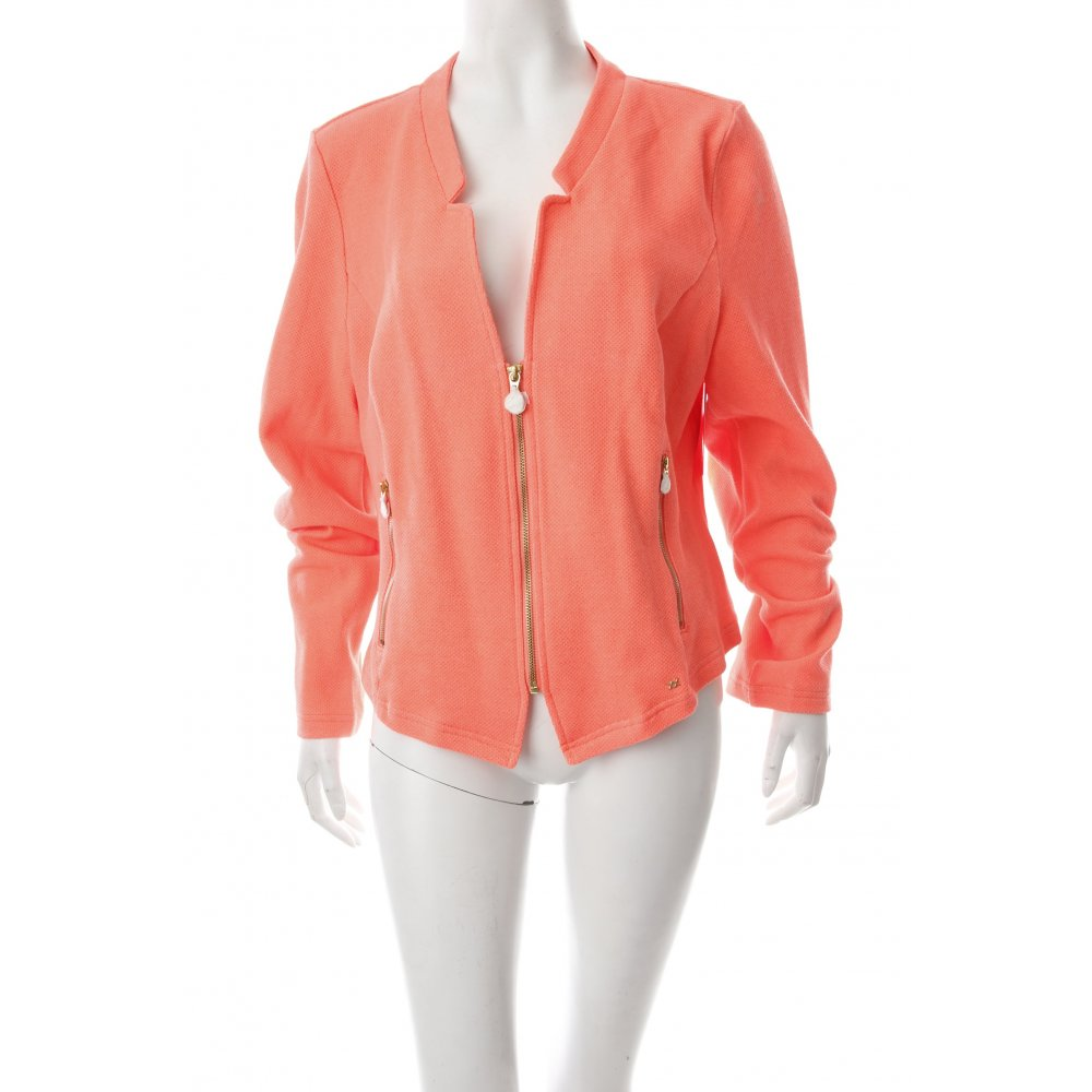mexx kurzjacke neonorange casual look damen gr de 44 jacke jacket baumwolle ebay. Black Bedroom Furniture Sets. Home Design Ideas
