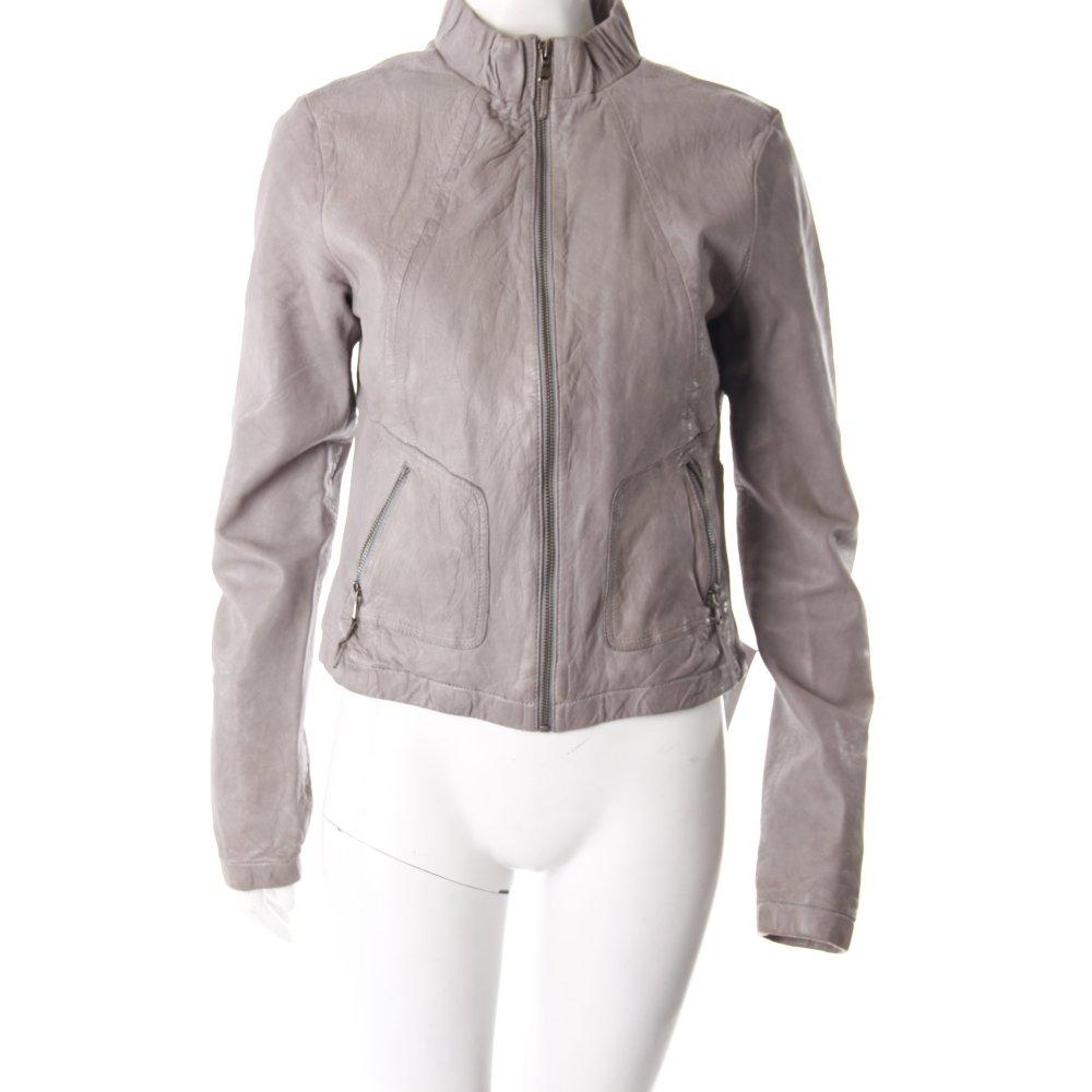 mexx lederjacke grau damen gr de 38 grau jacke jacket. Black Bedroom Furniture Sets. Home Design Ideas